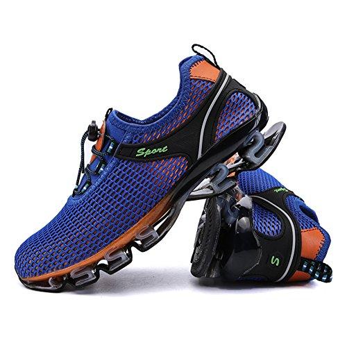 Männer Wandern Trail Running Outdoor-Sportschuhe von Noblespirit Blau
