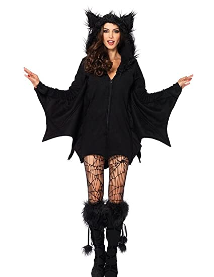 36612ff6ff0 Amazon.com  Wish Costume Shop Women s Vampire Bat Costume Halloween Cape  Sorceress Witch Party Cosplay Coat Jumpsuits  Clothing
