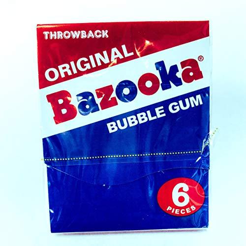 ORIGINAL BAZOOKA BUBBLE GUM WITH COMICS 6PC -
