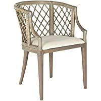 Safavieh Home Collection Carlotta Arm Chair, Griege