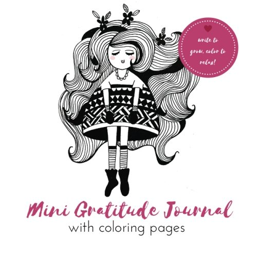 Amazon Com Mini Gratitude Journal With Coloring Pages A Journal