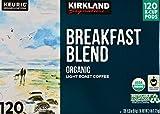 Kirkland Signature Organic Breakfast Blend Light-Roast Coffee, 120 K-Cup Pods