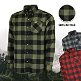 Mossy Oak Heavy Flannel Shirt for Men, Thermal