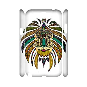 YananC(TM) YnaC397018 Customized 3D Cover Case for Samsung Galaxy Note 2 N7100 w/ Emperor Tribal Lion