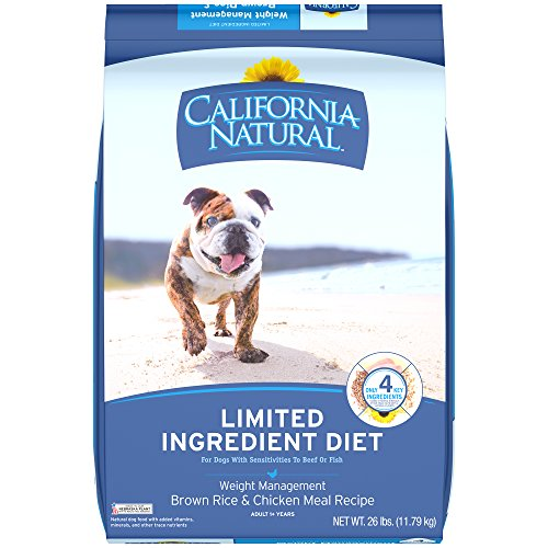 California Natural Adult Limited Ingredient Weight Management Brown Rice And Chicken Meal Recipe Dog Food 26 Pounds (& Skin California Coat Natural)