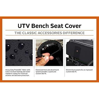 Classic Accessories QuadGear Black UTV Bench Seat Cover - 18-135-010403-00: Automotive