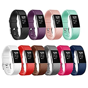 For Fitbit Charge 2 Bands, Adjustable Replacement Bands with Metal Clasp for Fitbit Charge 2 Wristbands Special Edition 10 Colors Small
