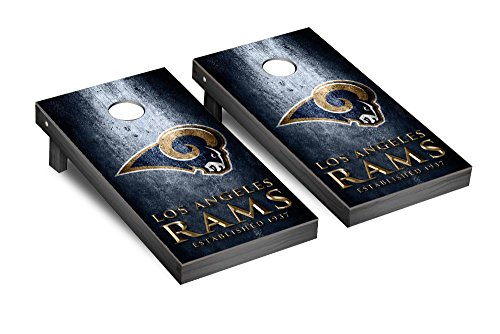 NFL Los Angeles Rams Museum Version Football Corn hole Game Set, One Size by Victory Tailgate (Image #1)