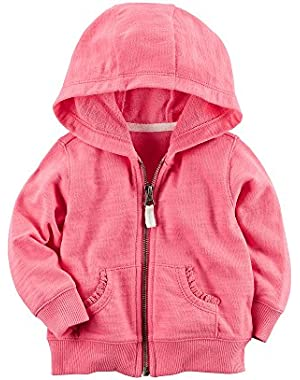 Baby Girls' Lace Accented Hoodie