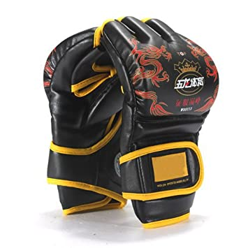 Well-Goal PU Leather Boxing Punching Gloves Mitts for MMA UFC Sparring Grappling Ultimate Fight by Well-Goal: Amazon.es: Deportes y aire libre