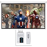 ARKSEN Foldable Electric Motorized Projector Screen w/ Remote Control, 16:9, 100