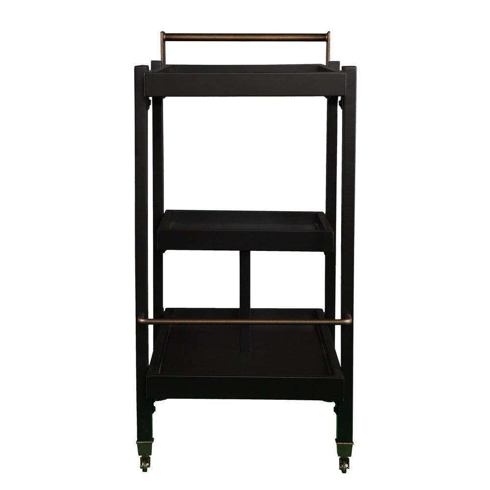 Black Includes Pen ModHaus Living Midcentury Modern 3 Tiers Serving Bar Cart
