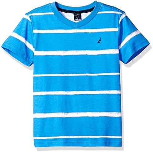 Nautica Boys' Jersey Stripe V-Neck Tee Shirt
