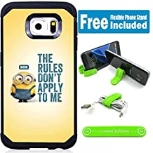 Samsung Galaxy Note 5 Hybrid Armor Defender Case Cover with Flexible Phone Stand - Minions The Rules