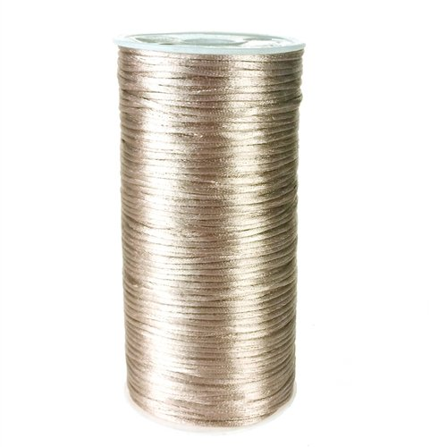 - Homeford Firefly Imports Satin Rattail Cord Chinese Knot, 2mm, 200 Yards, Toffee,