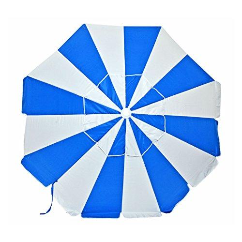 (7.5 ft Commercial Grade Fiberglass Beach Umbrella and Patio Umbrella UPF100 with Accessory Hook - One Yr Warranty)