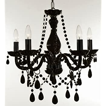 New authentic all black crystal chandelier lighting 5 lights h19 new authentic all black crystal chandelier lighting 5 lights h19 x wd aloadofball Choice Image