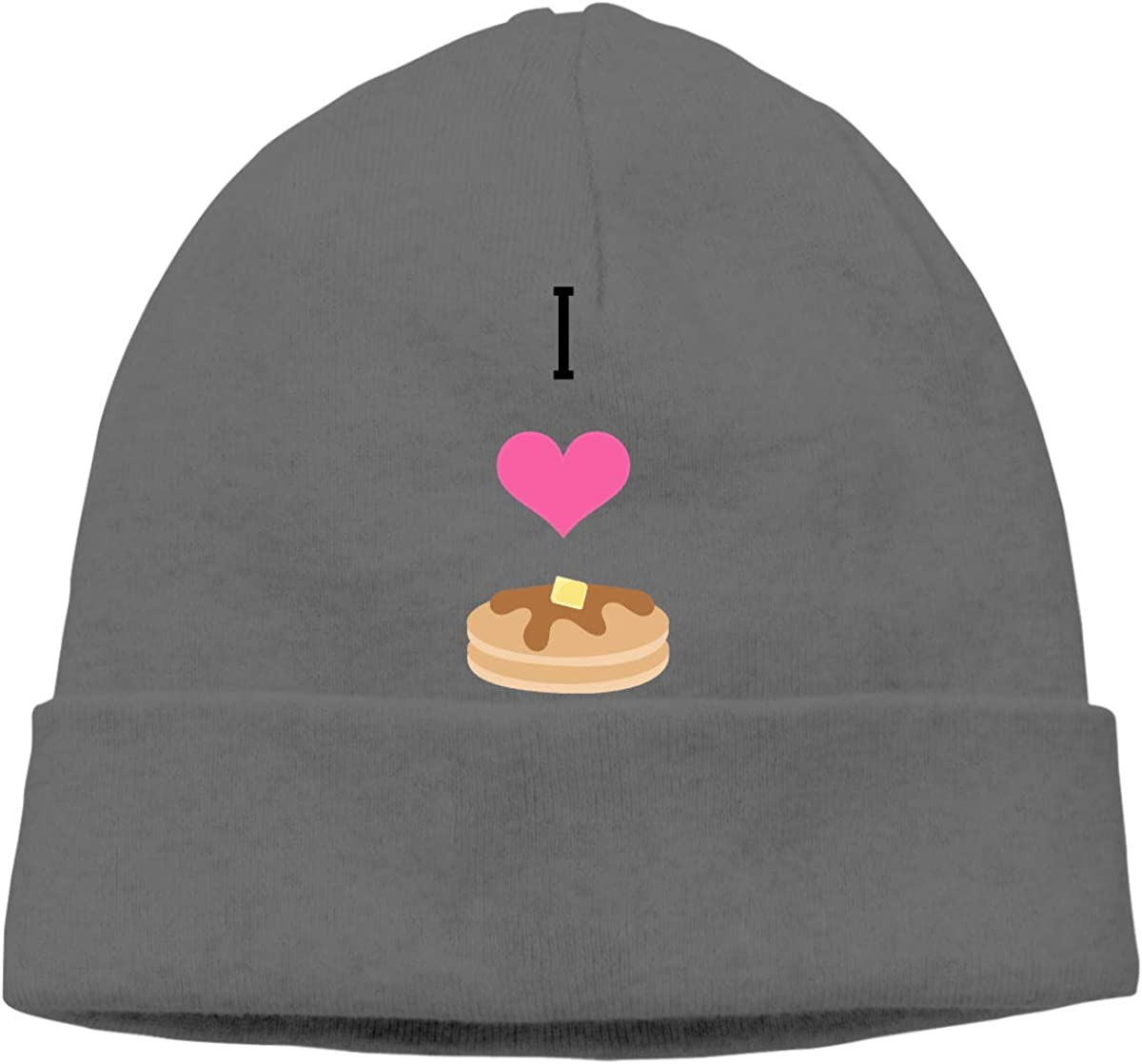 DMN Skull Cap Solid Headband I Love Pancakes Unisex Beanie Hats Black