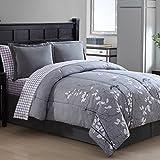Ellison Great Value Bainbridge 8 Piece Bed in a Bag, Queen, Gray