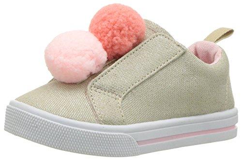 OshKosh B'Gosh Zapatillas para niños, Adella, Beige, 13 MX M Niñito