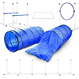 Better Sporting Dogs Deluxe Agility Equipment Set | 3 Jumps | 2 Tunnels | Weave Poles | Pause Box