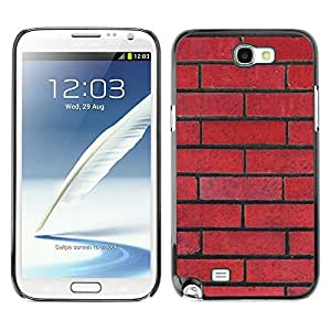 X-ray Impreso colorido protector duro espalda Funda piel de Shell para SAMSUNG Galaxy Note 2 II / N7100 - Wall Red Rebel Pattern Law Floyd