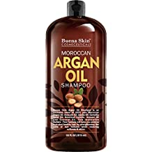 Moroccan Argan Oil Shampoo - Sulfate Free - Volumizing & Moisturizing, For Men & Women, Curly & Color Treated Hair, Infused with Keratin 16 Oz By Buena Skin