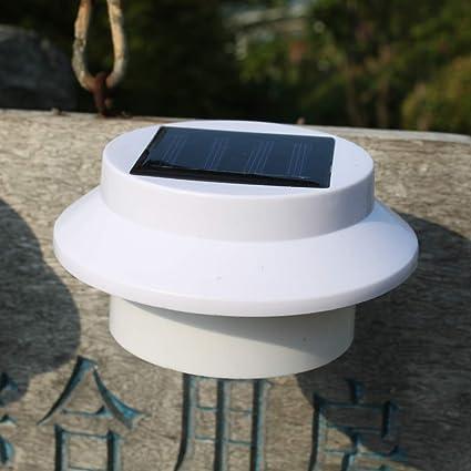 Luces De Canaletas Solares, Las Más Recientes 3 Luces De Pared Impermeables para Exteriores con