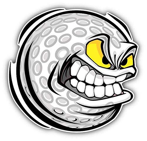 (Magnet Golf Ball Mean Face Cartoon Window Truck Car Vinyl Flexible Magnet Magnetic Bumper Sticker 5