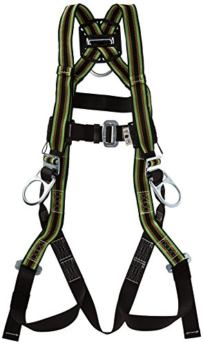 Miller DuraFlex Stretchable Full Body Safety Harness with Side D-Rings & Leg Mating Buckles, Universal Size-Large/XL, 400 lb. Capacity -
