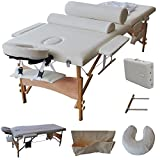 GHP 84''L Fold Foam Padding Massage Table Portable Facial SPA Bed