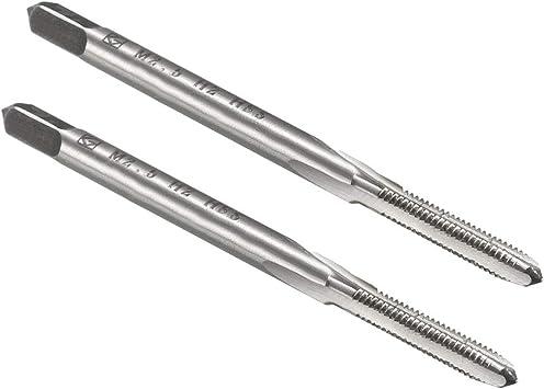 KLOT 10pcs HSS Plug Tap Fine Thread M2-M20 Straight Flute Machine Metric ScrewH2