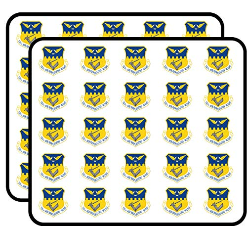 US Air Force 121st Air Refueling Wing Vinyl Transfer Decal Military Veteran Served 50 Pack Sticker for Scrapbooking, Calendars, Arts, Album, Bullet Journals and More 1