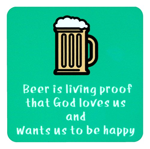Eco Corner Beer Fridge Magnet 3 inches x 3 inches Green