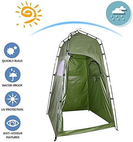 LLHAI Tienda de campaña Plato de Ducha, conveniencia Pop Up de baño de privacidad Cambiar Cuarto de Vestir de Almacenamiento Refugio, Estable al Aire Libre Sol sombrilla