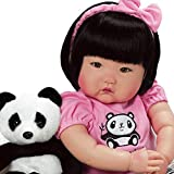 Paradise Galleries Lifelike Asian Reborn Baby Doll Bamboo, 20 inch Chinese Girl in GentleTouch Vinyl & Weighted Body, 7-Piece Doll Gift Set