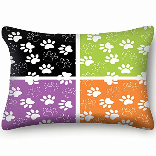 (shower curtain doormat Duplicate Patterns Can Be Used Animals Wildlife Decorative Personalized Throw Pillow Cover Funny Zipper Rectangle Case Size 20X30 Inches Pillowcase Two Sides Cushion)