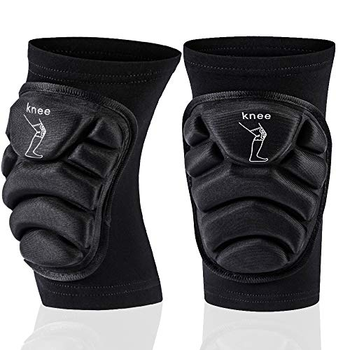 Gute Knee Guards, Protective Knee Pads Knee Brace for Men Women, Collision Avoidance Kneeling Thick Sponge Knee Sleeve Support for Sport Volleyball Basketball Football Cycling Climbing - 1 Pair XLarge