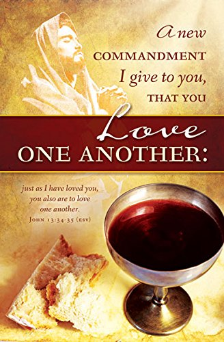 "Church Bulletin 11"" - Communion - Love One Another (Pack of 100)"