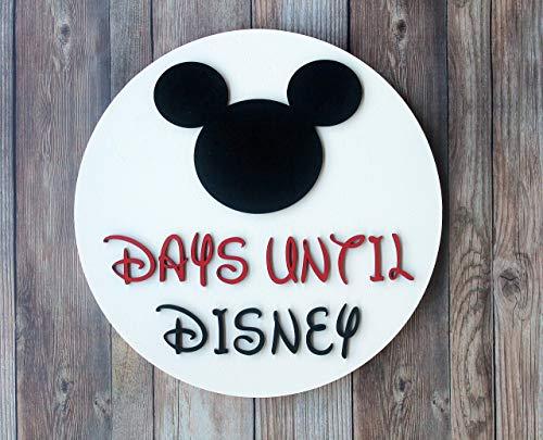 Days Until Disney Sign, Disney Countdown