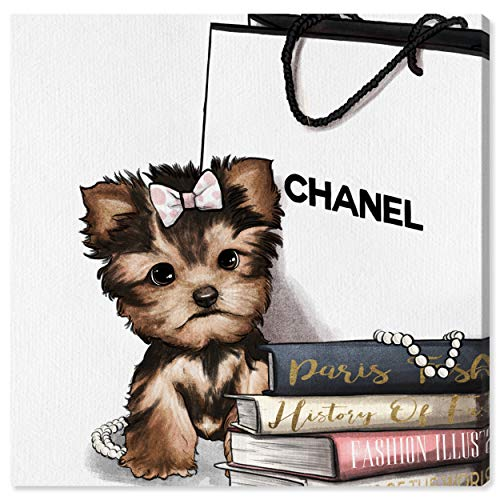 The Oliver Gal Artist Co. Animals Wall Art Canvas Prints 'Fashion Book Yorkie Glam Custom' Home Décor 16