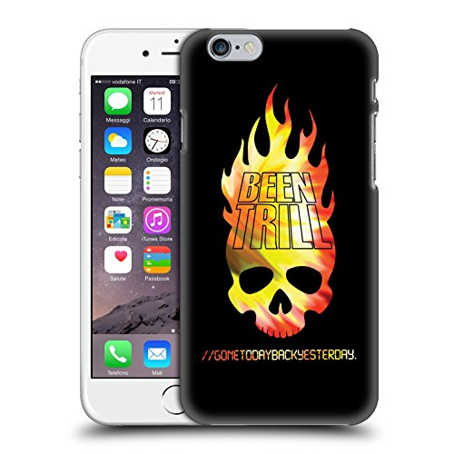 Official Been Trill Flaming Skull Colourful Prints Hard Back Case for Apple iPhone 6 / 6s
