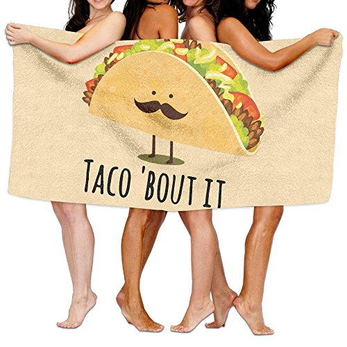 Cheap KAYERDELLE Unisex Taco Bout It Beach Towels Washcloths Bath Towels For Teen Girls Adults Travel Towel Pool And Gym Use 31x51 Inches supplier