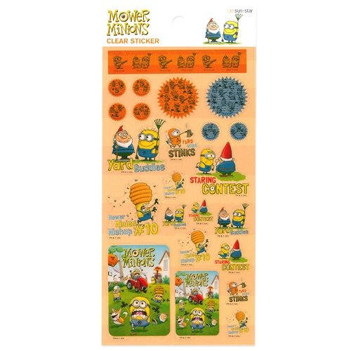 Mower Minions Movie Characters Minions Cute Clear Stickers