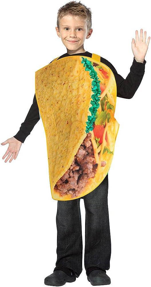 SPUNICOS Children's Banana Costume Hot Dog Costume Taco Costume Poop Costume for Halloween,Christmas Cosplay Dress Up Parties