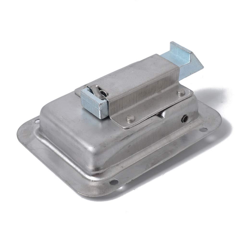 4PCS Acero Inoxidable Paddle Latch 119mmx92mm y Las Llaves de Repuesto para la Caja de Herramientas de Bloqueo de Remolque Caravana de Camiones