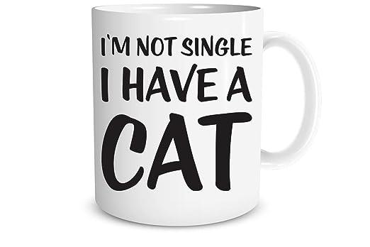 No estoy solo Tengo un gato - 11 oz tazas de café - Taza ...