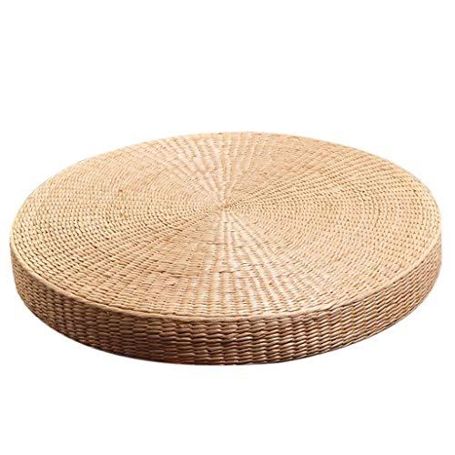 - Straw Futon Sit Cushion Rattan Tatami Tea Ceremony Cushion Thickening Meditation Mat Zen Cushion (Size : Diameter 6020cm)