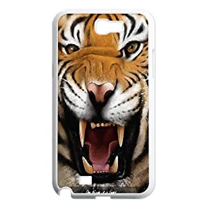 Custom King of Tiger animals picture in PC Hard Plastic phone Case Cover For Samsung Galaxy Note 2 Case TMAT353191