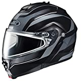 HJC IS-MAX2SN Style Modular Snow Helmet Frameless Dual Lens Shield (MC-5F Black/Silver, X-Large)